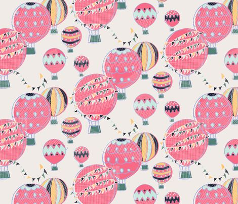 Hot Air Balloon Festival fabric by milly_dee on Spoonflower - custom fabric
