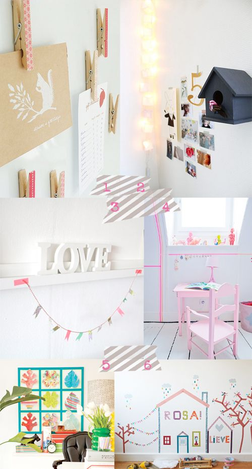 106 besten art masking washi tape bilder auf pinterest wandgestaltung abdeckband und klebeband. Black Bedroom Furniture Sets. Home Design Ideas