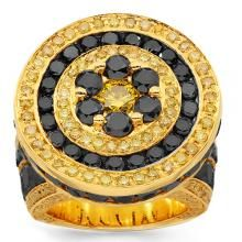 14K Yellow Gold Mens Diamond Pinky Ring 15.90 Ctw