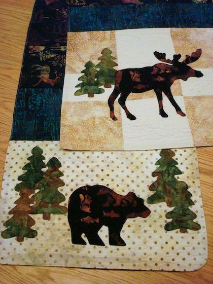 moose, bear, trees