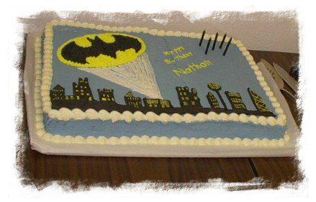 Batman Sheet Cake Batman Pinterest Batman Cakes