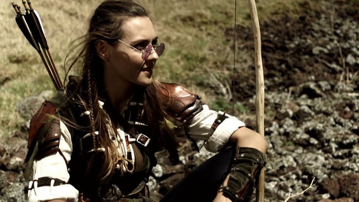 Costume made for a character in a web series, featuring custom leather armour