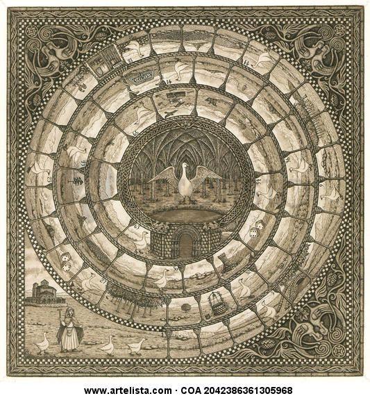 El Juego de la Oca  o La espiral de los Maestros Constructores