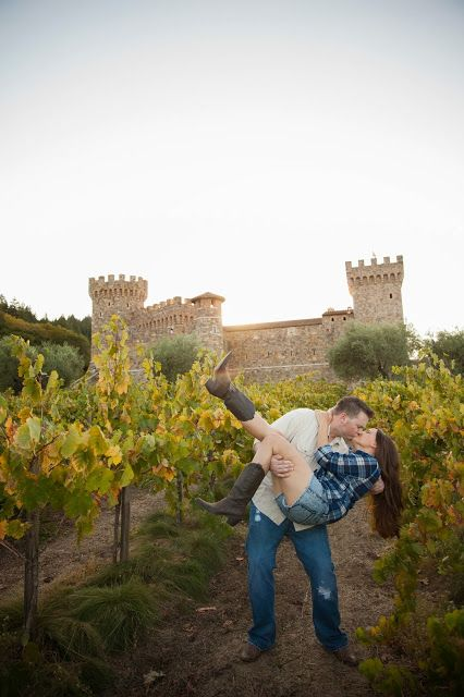 Beautiful engagement photo shoot from Catherine Leanne Photography at Castello di Amorosa winery in Napa Valley