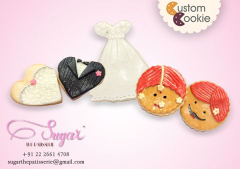 Another batch of wedding special cookies! Make for such cute give-aways! Call us on 022-26614708 or email us on sugarthepatisserie@gmail.com to place your custom cookie orders today! #sugarthepatisserie #customcookie #nomnom #mumbaiwedding #dessertlove #mumbaifoodie #instafood