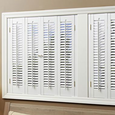 JCPenney Home™ Faux-Wood Traditional Shutters – 4 Panels  found at @JCPenney
