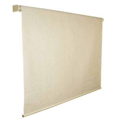 Coolaroo exterior roller shade 10 by 8 feet pebble by for Exterior roller shade