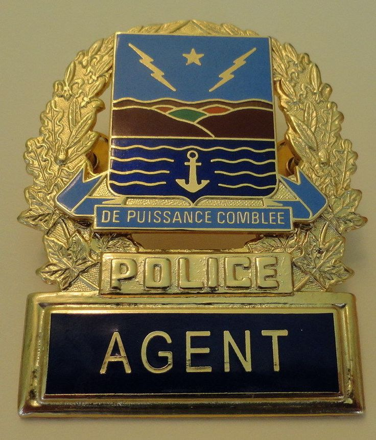 Obsolete Quebec Canada Baie Comeau Agent Police HAT Badge | eBay