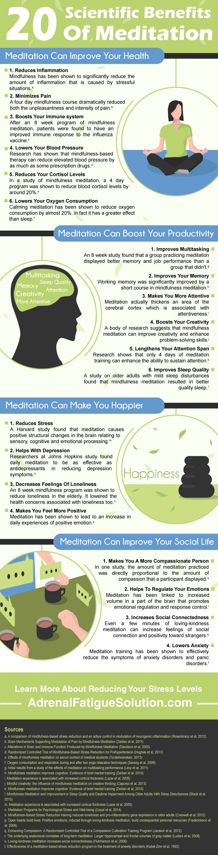 20 ways that meditation can improve your health