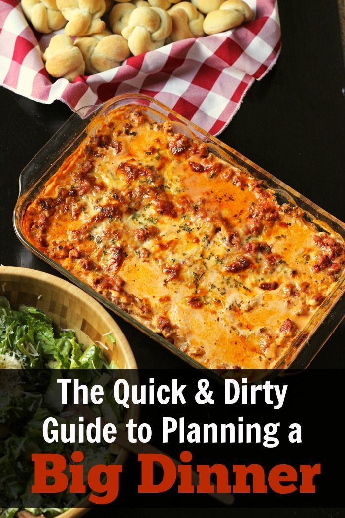 Quick & Dirty Guide to Planning a Big Dinner - The very thought of planning a big dinner can be intimidating, but it doesn't have to be. Follow these simple tricks and you'll be the host with the most. Get the Quick & Dirty Guide to Planning a Big Dinner   #holidays #christmas #nomnom #planning #hostesswiththemostest