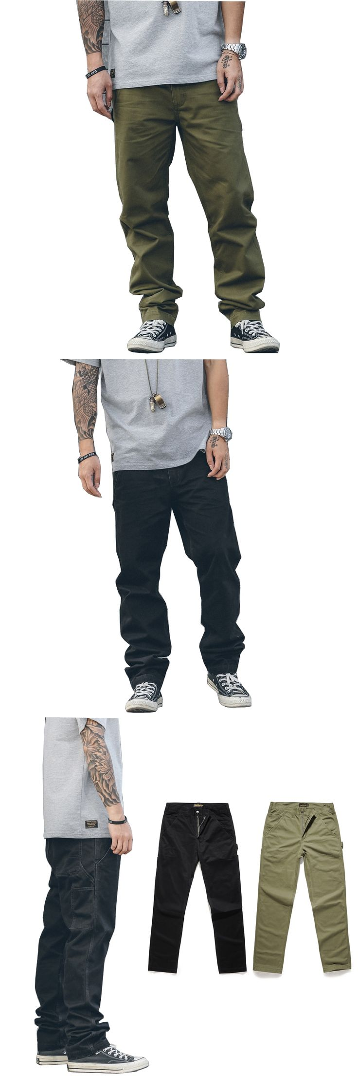 2017 new loose Long Cargo Pants Baggy Trousers Fashion Fitted Bottoms street wear hip hop Pocket Design Army green black  pants