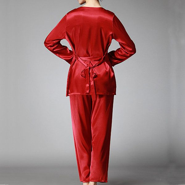 Silky Three Piece Comfy Sleepwear Suit