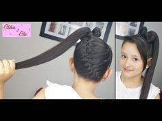 Trenza Diagonal terminada en Lazo Alto! - Diagonal Braid into Ponytail Bow! | Chikas Chic - YouTube