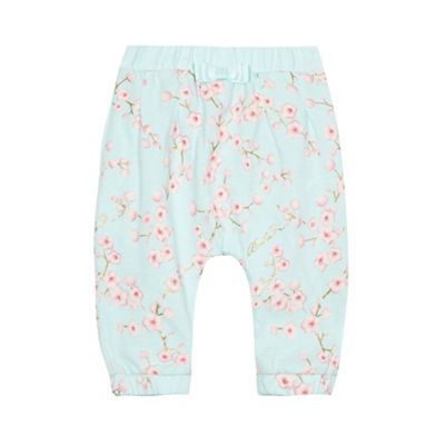 Baker by Ted Baker Baby girls' light green floral print harem trousers | Debenhams