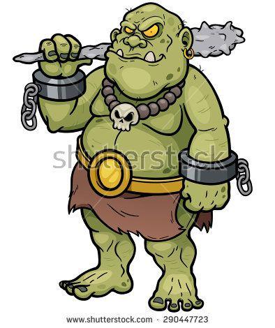 Vector illustration of Cartoon Ogre