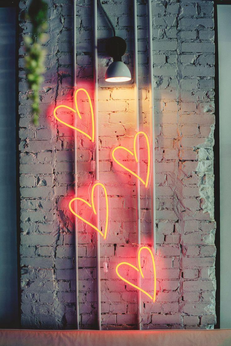 Neon room wall art