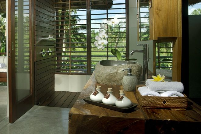 Modern organic luxury riverside in Pererenan.