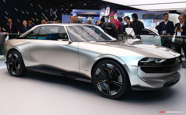 Peugeot 'e-LEGEND' idea automotive on the 2018 Paris Motor Present