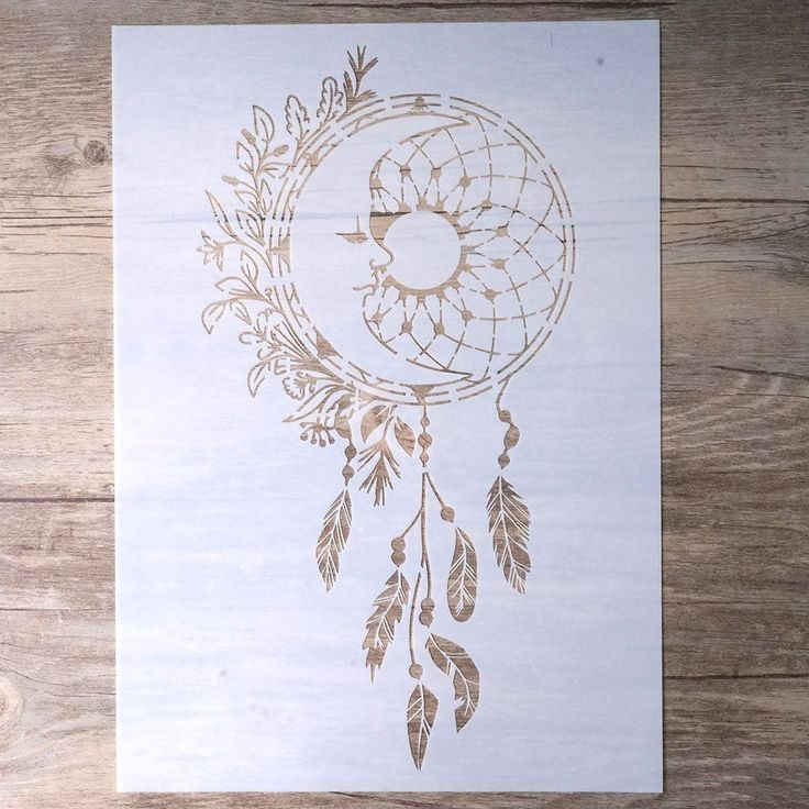 Home Sweet Home Vintage Shabby Chic Mylar Painting Wall Art Stencil A2 Size...