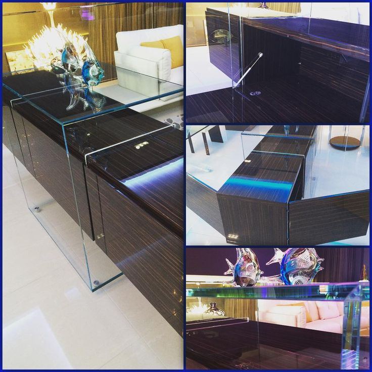 KUBO multi sided buffet crafted in Ebony Makassar timber, finished inside out in high gloss polyester.  Enquire now at www.sovereigninteriors.com.au