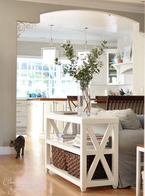 Skinny Side Table In Living Room