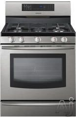 """Samsung FX710BGS 30"""" Freestanding Gas Range with 5 Sealed Burners, 5.8 cu. ft. European Convection Oven, Self-Clean, 4 Preset Menu Options, ..."""