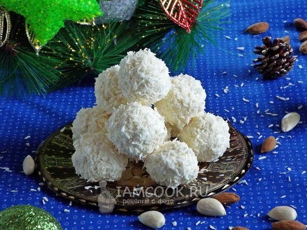 Фото кокосовых конфет «Снежки»
