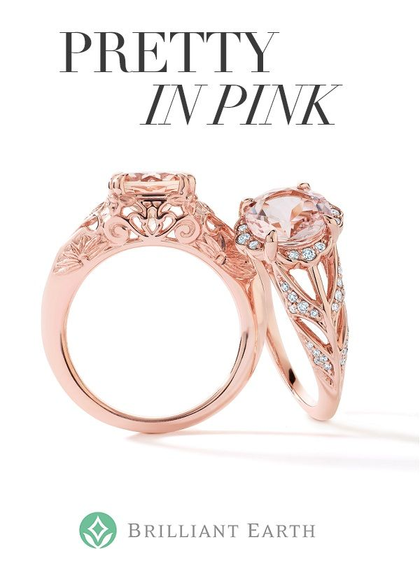 Blush pink morganites, treasured for their stunning hue and alluring clarity, are perfectly complemented by rose gold settings. Explore our collection!