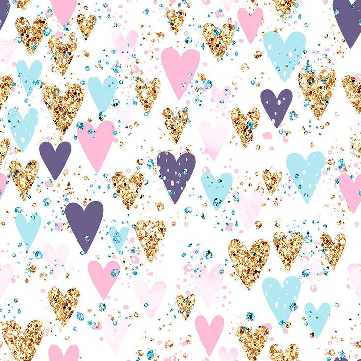 Unicorn fabric, glitter fabric, unicorn rainbow fabric