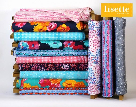 Our new Lisette cotton jersey fabric collection in Spotlight stores!