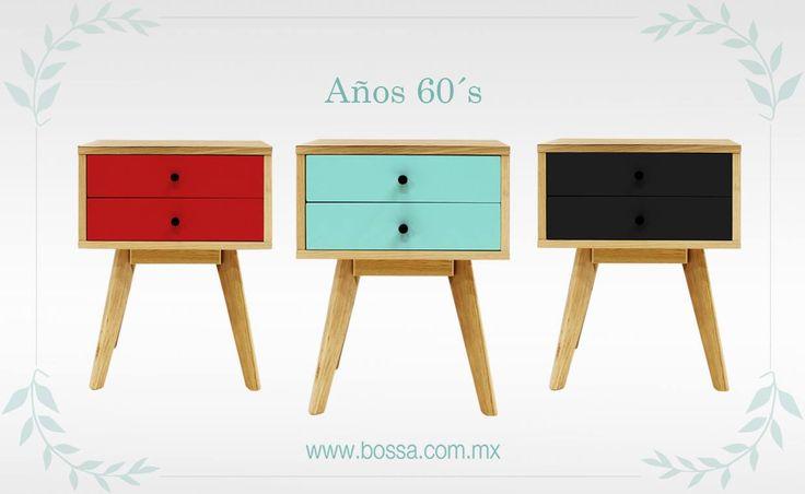 Brinda el estilo acogedor y tradicional de los años 60´s, donde los colores primarios y secundarios destacaban en los muebles.  Revive esta época con el Buró Geri 2 Cajones en: www.bossa.com.mx