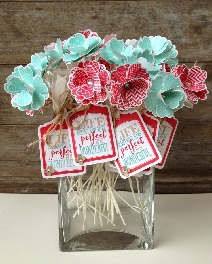 Margriet Creatief; swaps, stampin' up!, flower shop, perfect pennants