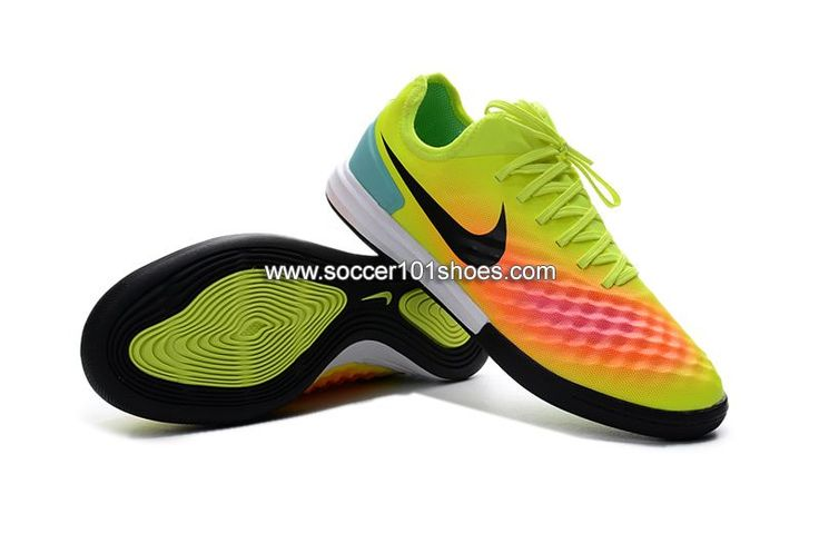 Nike Men's MagistaX Finale II IC Indoor Soccer Football Shoes Yellow Orange Black  $73.00