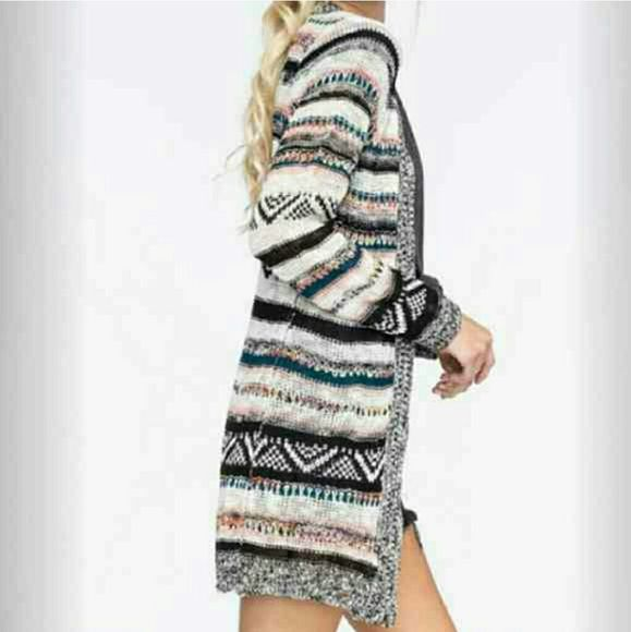 FINAL PRICE! Full Tilt Striped Cardigan Brand new condition! Worn once!! Full Tilt Sweaters Cardigans