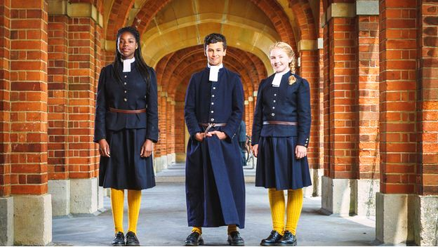Image result for school in england where they have been wearing the same uniform for 460 years