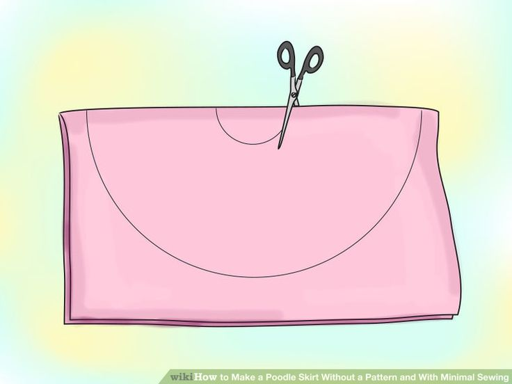 how to make poodle skirts without sewing
