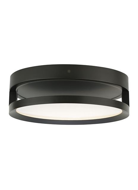 Clean lines and edge-lit LED light guide technology combine in this modern flush mount that �floats� just below the ceiling.
