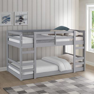 Harriet Bee Kemah Twin Bunk Bed Bed Frame Color Gray Twin Bunk