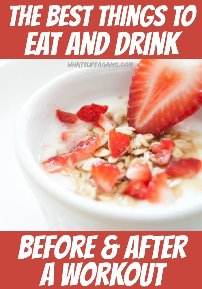 An actual list of the best things to eat and drink before workouts and what you should eat and drink after exercising. Simple list to help fuel gym goers.