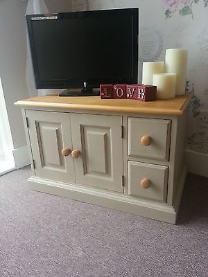 Vintage Farmhouse Solid Pine Shabby Chic TV Cabinet/Unit with Drawers and Cupboa in TV & Entertainment Stands | eBay. Another beautiful piece from Chic Boutique Furniture in Leicester.