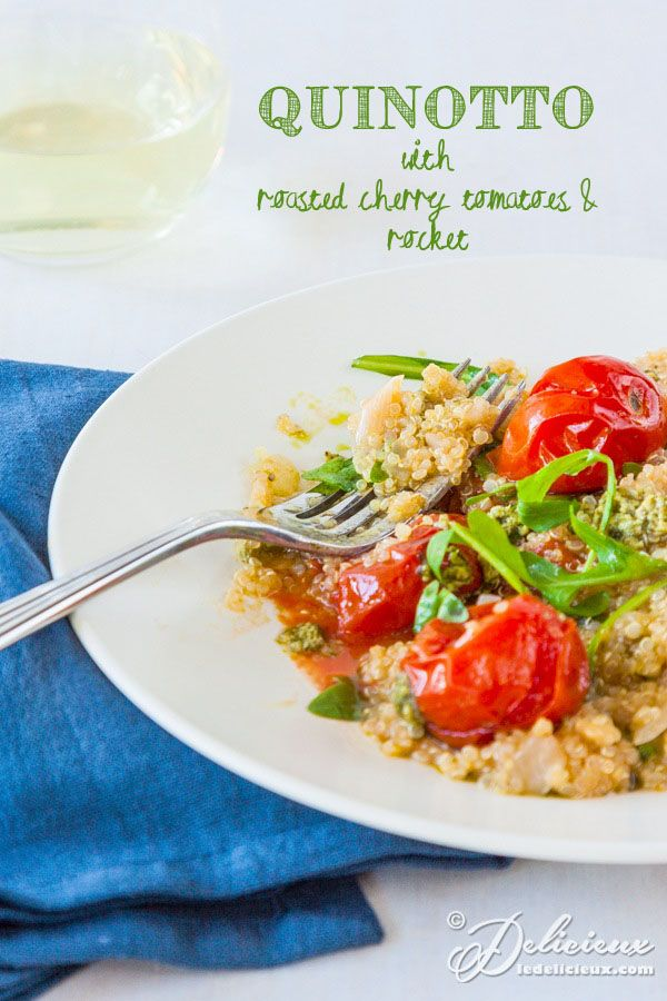 Quinotto (quinoa risotto) with roasted cherry tomatoes - risotto gets a healthy makeover | ledelicieux.com