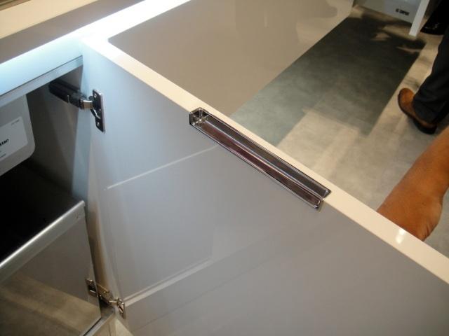 Puxador inox embutido topo  Marcenaria  Pinterest -> Armario De Banheiro Com Puxador Embutido