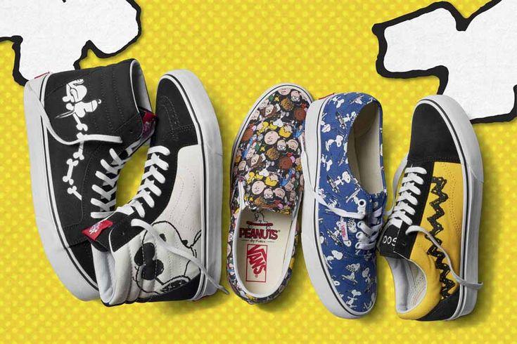 La famosa marca de tenis Vans se unió con Peanuts, los creadores de Snoopy, para ofrecer una colección con todos los personajes de la pandilla.