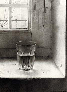 Isabel Quintanilla,  Glass, drawing, 1969