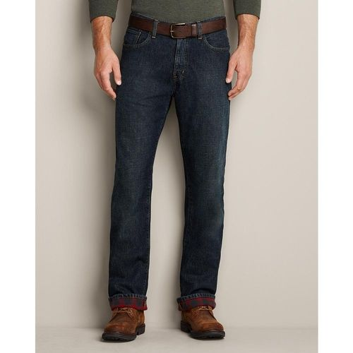 Relaxed Fit Flannel-Lined Jeans from Eddie Bauer on shop.CatalogSpree.com, your personal digital mall.