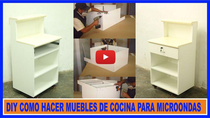 Como hacer muebles de cocina ,mueble de melamina color blanco para microondas mueble auxiliar de cocina