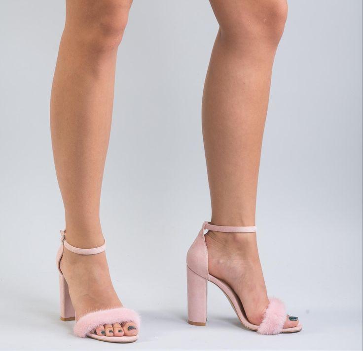 Pink Mink Fur Heels    #pink #mink #fur #heels #shoes #sandals #realfur #fox #realfox  #haute #style #accessories #fashion