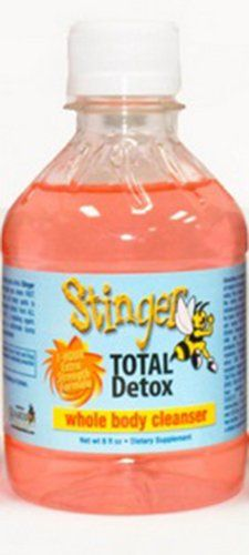 5 Pack  Stinger Total Detox Pink Liquid Cleanser 8 Fl Oz Pink with Free Im Baked Bro and Doob Tubes Sticker * Check out this great product.