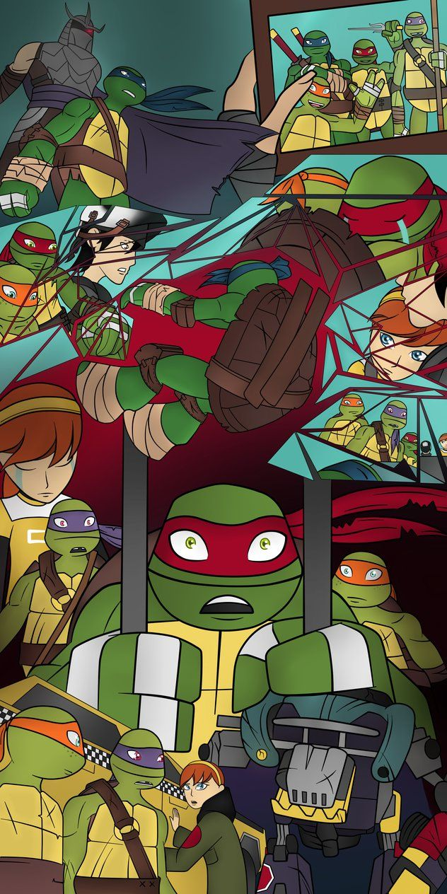 Te Teenage Mutant Ninja Turtles Tv Show - This is my drawing of the tmnt 2012 season 2 final it took me a whole week to do this it was allot of work cause i wanted so many points of