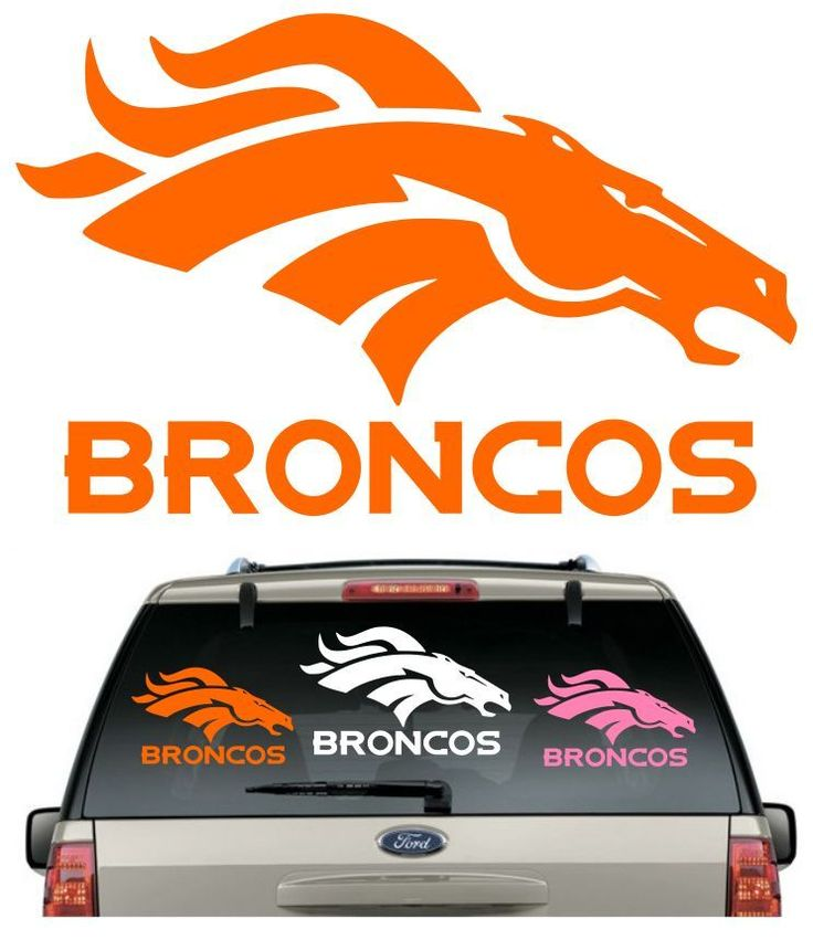 *BUY 2,GET 1 FREE****BRONCOS CAR DECAL VARIOUS SIZE